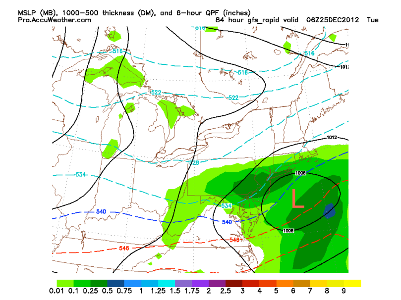 GFS 2 AM Christmas Day