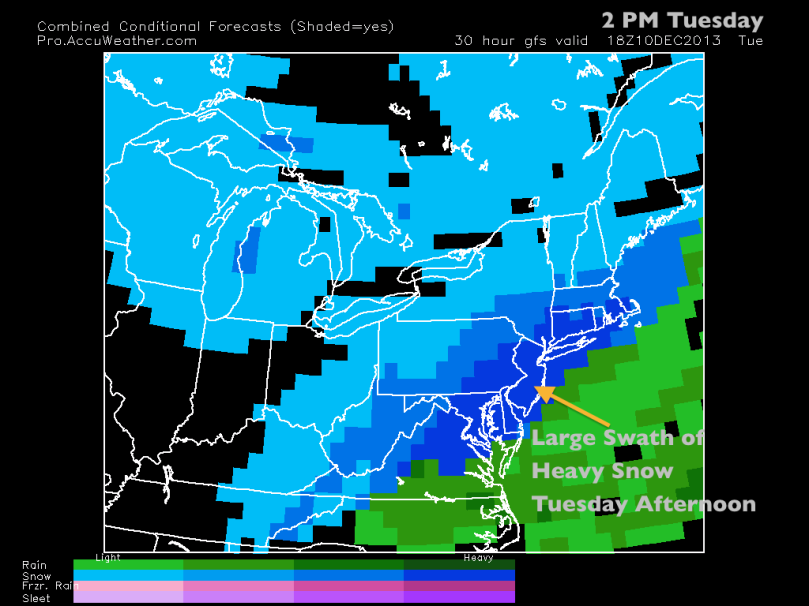 GFS Solution Tuesday Afternoon