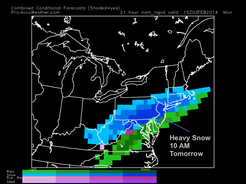 Nam snow intensity