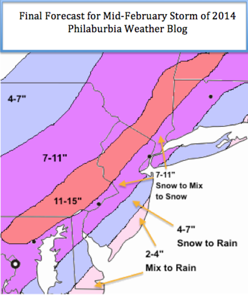 Forecast for Mid-February Storm of 2014