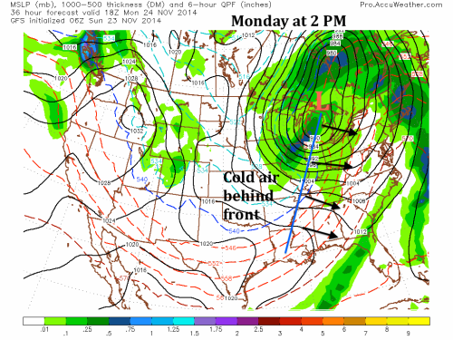 GFS Monday at 2 PM