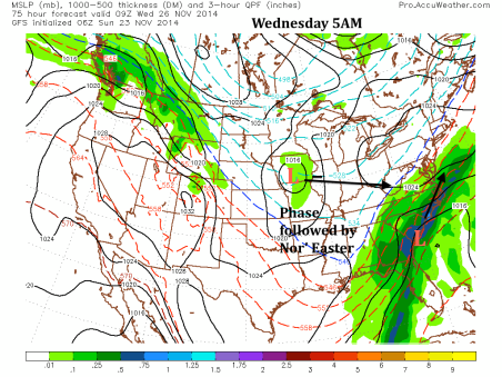 GFS 5 AM Wednesday