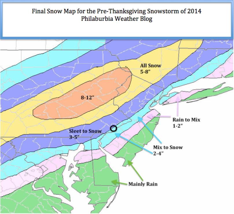 Snow Map 11/26