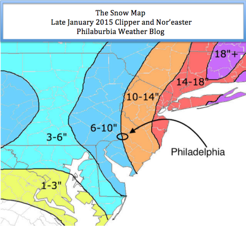 Snow Map for the One Two Punch